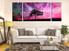 3 piece canvas wall art, living room multi panel canvas, purple scenery canvas print, panoramic decor