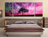 3 piece canvas print, purple group canvas, scenery canvas wall art, tree artwork, bedroom large pictures, nature artwork