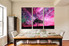 3 piece wall decor, dining room multi panel art, scenery canvas wall art, purple huge canvas print, tree canvas photography