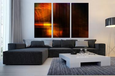 3 piece huge canvas art, living room huge canvas art, modern canvas photography, orange multi panel canvas