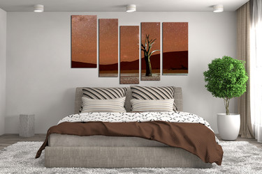 5 piece wall art, bedroom canvas art prints, landscape photo canvas, brown canvas photography, mountain wall art, landscape huge canvas art