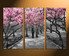 3 piece canvas wall art, home decor, scenery canvas print, grey wall decor, tree huge canvas print