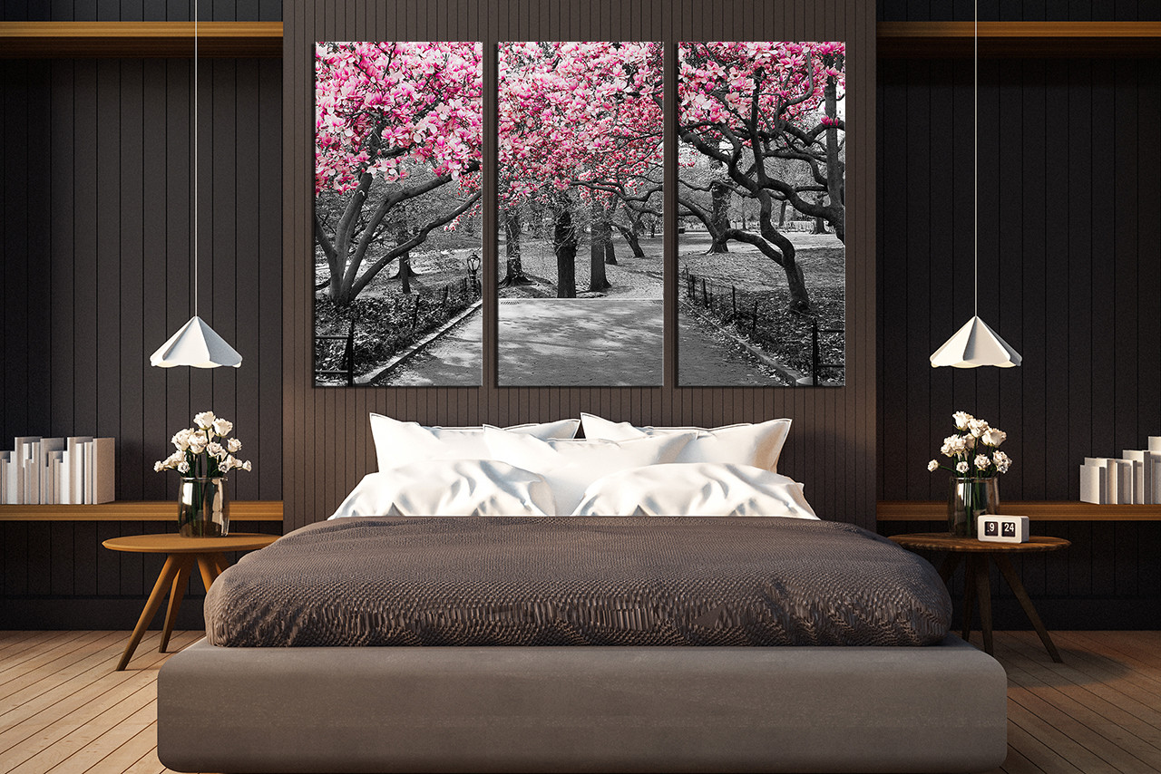 3 Piece Group Canvas Scenery Huge Canvas Print Black And White