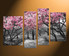 4 piece large canvas, home decor, scenery canvas art prints, grey wall decor, tree multi panel canvas