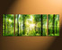 3 piece photo canvas, home decor, scenery huge canvas art, green wall decor, tree artwork