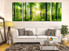 3 piece multi panel canvas, living room group canvas, scenery huge pictures, green group canvas, tree multi panel art
