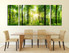 3 piece canvas art prints, dining room art, scenery large pictures, green canvas print, tree huge canvas print