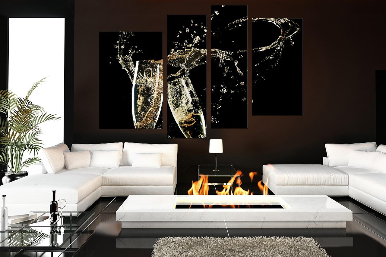 4 piece wall art living room wall art kitchen multi panel art champagne