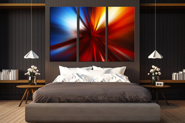 3 piece group canvas, modern photo canvas, abstract art, bedroom large pictures, red modern huge pictures