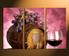 3 piece wall art, home decor, wine multi panel art, kitchen canvas print, wall art