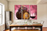 3 piece wall art, dining room decor, grapes , wine canvas art, red wine wall art