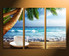 3 piece canvas wall art, home decor, ocean multi panel canvas, cup plate huge pictures, kitchen artwork, sea canvas photography