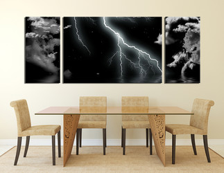 3 piece large canvas, dining room wall art,abstract pictures, black abstract canvas photography, abstract art