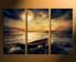 3 piece canvas art prints, home decor,  ocean artwork, boat large canvas, yellow ocean wall decor