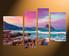 4 piece huge canvas art, purple canvas photography, ocean multi panel art, home decor, landscape multi panel canvas