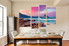 4 piece canvas art prints, sea wall art, mountain large pictures, dining room multi panel canvas, purple group canvas