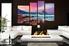 4 piece huge canvas art, purple photo canvas, living room large canvas, mountain wall decor, ocean canvas art prints