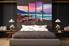 4 piece huge pictures, bedroom canvas photography, purple multi panel canvas, sea large canvas, landscape art