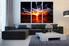3 piece canvas wall art, abstract artwork, orange abstract wall art, abstract pictures, living room decor