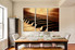 3 piece canvas wall art, musical instrument multi panel canvas, brown art, dining room decor, grand piano huge canvas print