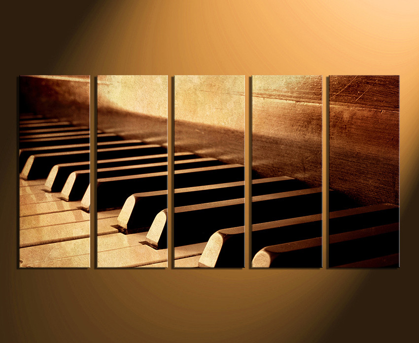 5 Piece Canvas Art Prints, Home Decor, Piano Canvas Print, Musical  Instrument Canvas