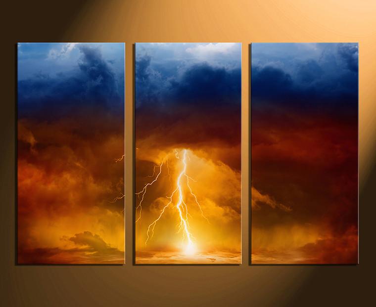 3 piece canvas art prints, abstract canvas print, abstract huge canvas art, orange abstract canvas wall art, home wall decor