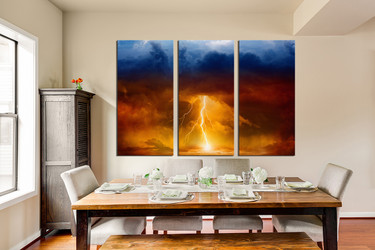 3 piece canvas art prints, abstract canvas photography, orange  pictures, abstract multi panel art, dining room canvas print