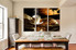 3 piece canvas art prints, dining room wall art, kitchen wall decor, cup artwork, modern huge pictures