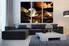 3 piece canvas wall art, living room art, coffee beans photo canvas, kitchen canvas print, cup art