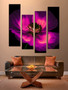 4 piece large pictures, floral multi panel canvas, purple huge canvas art, floral multi panel art, living room huge canvas art