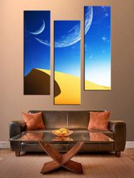 3 piece canvas photography, living room canvas wall art, desert huge canvas print, planet decor, landscape art