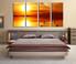 4 piece multi panel canvas, bedroom canvas photography, yellow wall decor, planet artwork, sea canvas wall art