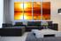 4 piece photo canvas, living room art, yellow multi panel art, planet canvas print, ocean canvas photography