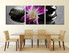3 piece multi panel art,  dining room huge canvas art,  flower huge canvas print,  purple canvas photography