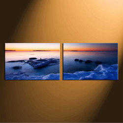 2 piece canvas wall art, home decor, ocean group canvas, sea multi panel canvas, panoramic canvas photography