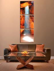 3 piece canvas wall art, living room art, orange mountain photo canvas, mountain multi panel canvas, landscape canvas photography