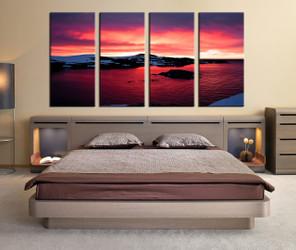 4 piece photo canvas, bedroom large pictures, ocean wall decor, landscape multi panel canvas, sea canvas print