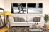 2 piece wall art, living room art, black and white multi panel art, modern canvas photography, black and white huge pictures