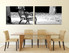 2 piece large canvas, dining room wall art, black and white pictures, modern canvas photography, black and white art
