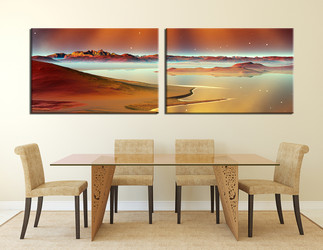 2 piece photo canvas, dining room canvas photography, sea canvas wall art, ocean art, panoramic large pictures