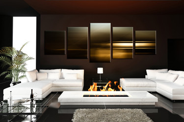 5 piece canvas wall art, living room canvas print, panoramic abstract huge canvas art, abstract photo canvas