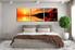 3 piece huge canvas print, bedroom huge pictures, orange art, flower canvas wall art, ocean artwork