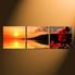 3 piece photo canvas, home decor, orange wall decor, flower multi panel art, panoramic huge canvas print