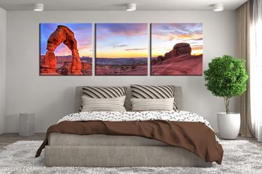 3 piece artwork, landscape canvas prints, landscape prints, bedroom canvas art, mountain wall art