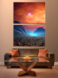 2 piece canvas wall art, scenery artwork, scenery wall art, scenery huge pictures, living room decor
