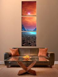 3 piece photo canvas, living room canvas wall art, orange artwork, landscape canvas photography, landscape art