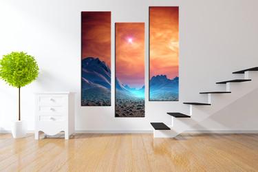3 piece canvas wall art, landscape canvas photography, mountain artwork, landscape large Pictures