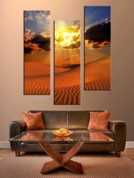 3 piece large pictures, landscape art, living room multi panel art, brown landscape photo canvas, landscape artwork