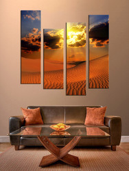 4 piece canvas photography, living room huge pictures , landscape multi panel art, landscape brown art
