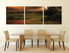 3 piece multi panel canvas, dining room canvas photography, green scenery wall art, panoramic scenery artwork